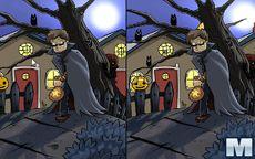 Mr Pumpkin in the Halloween Night